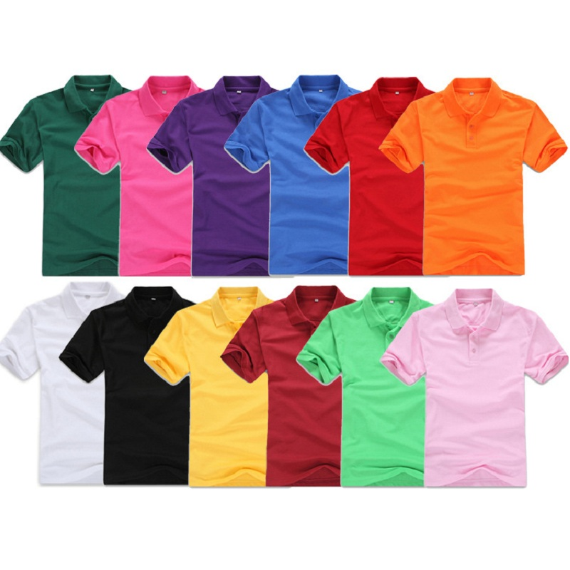2018 Polo Shirt Men Clothing short Sleeve Tees for women summer style classic tops Blue Black White Solid color