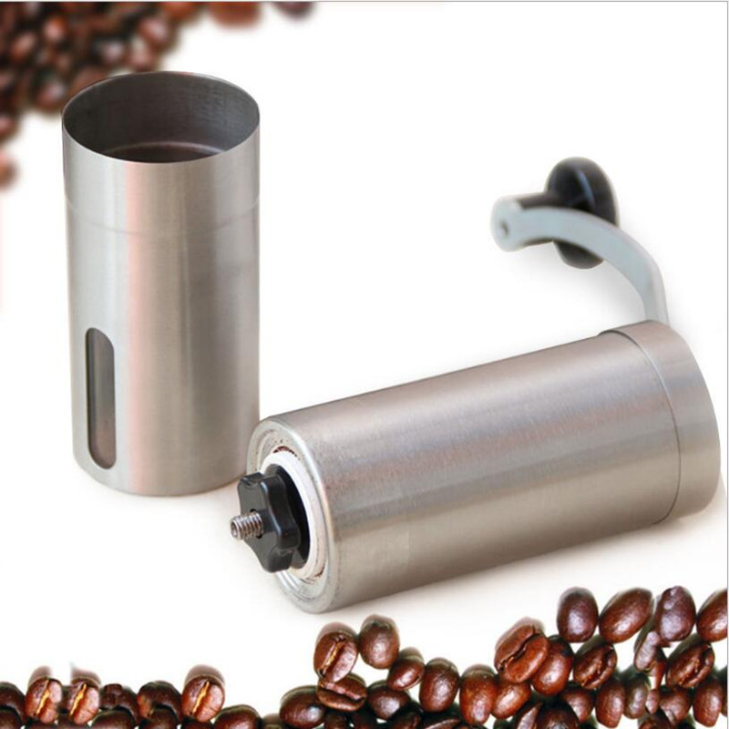 Portable Manual Coffee Bean Grinder Coffee Mill Machine 304 Stainless Steel Coffee Grinders Free Shipping ultra sharp sickle free firewood steel mill wash