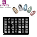 KADS Design B Stainless Steel Nail Art Stamping Plates Nail Seal Manicure Printer Tool Templates Nail Stamp Stencils