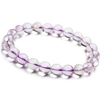Wholesale 9mm Genuine Purple Kunzite Quartz Crystal Round Beads Jewelry Stretch Charm Bracelet Femme