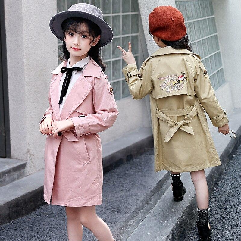 Trench Enfant coupe-vent vestes pour filles 5 6 7 8 9 10 11 12 13 ans adolescent bébé fille Boutique vêtements automne tenues 8 10 12