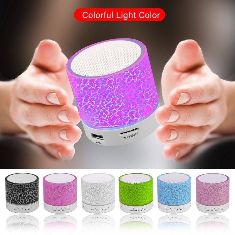GETIHU LED Bluetooth Speakers Wireless Portable Mini Hands Free Speaker TF USB FM Mic Blutooth Music For iPhone 8 X Mobile Phone 4