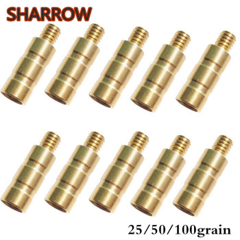 12/24Pcs  25/50/100Gr Archery Brass Arrow Weight Combo Screw Points Copper Insert For Outdoor Hunting Shooting Accessories