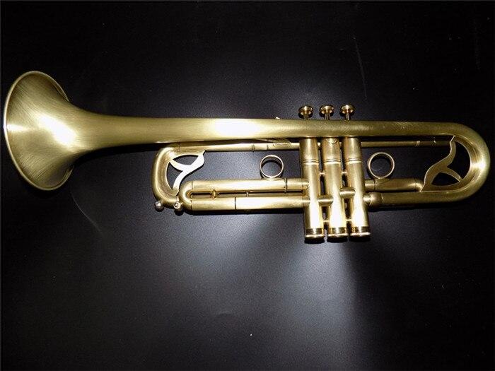 Bb Brass Trumpet Monel Piston Brush finish with Case and Mouthpiece musical instruments professional выпрямитель волос vitek vt 2324 35 чёрный