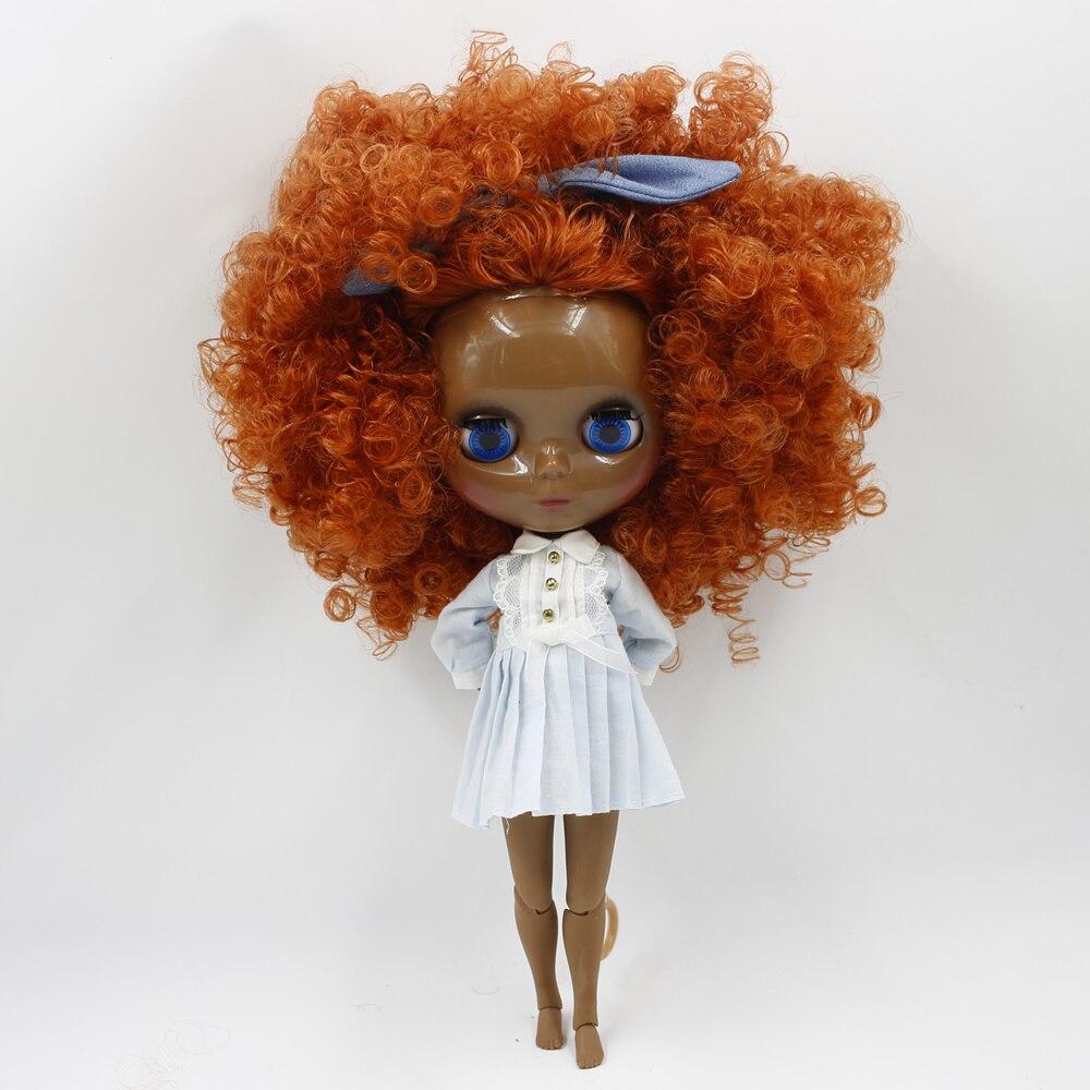 Blyth poupée Super noir joint corps Afro cheveux 30 cm mode blyth bjd poupée à vendre