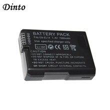 Dinto, 1 шт., 1500 мА · ч, Φ ENEL14, литий-ионный аккумулятор для камеры Nikon D5300, D5200, D5100, D3200, D3100, D3300, EN, EL14