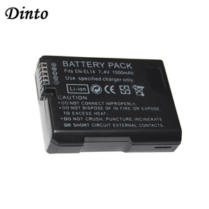Dinto 1pc 1500mAh EN-EL14 EN-EL14A ENEL14 Li-ion Camera Battery Pack for Nikon D5300 D5200 D5100 D3200 D3100 D3300 EN EL14