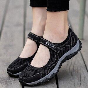 Image 1 - Yaz örgü ayakkabı kadın daireler ayakkabı nefes yürüyüş mokasen rahat ayakkabı kadın Tenis kaymaz moda spor ayakkabı Sapatos Feminino