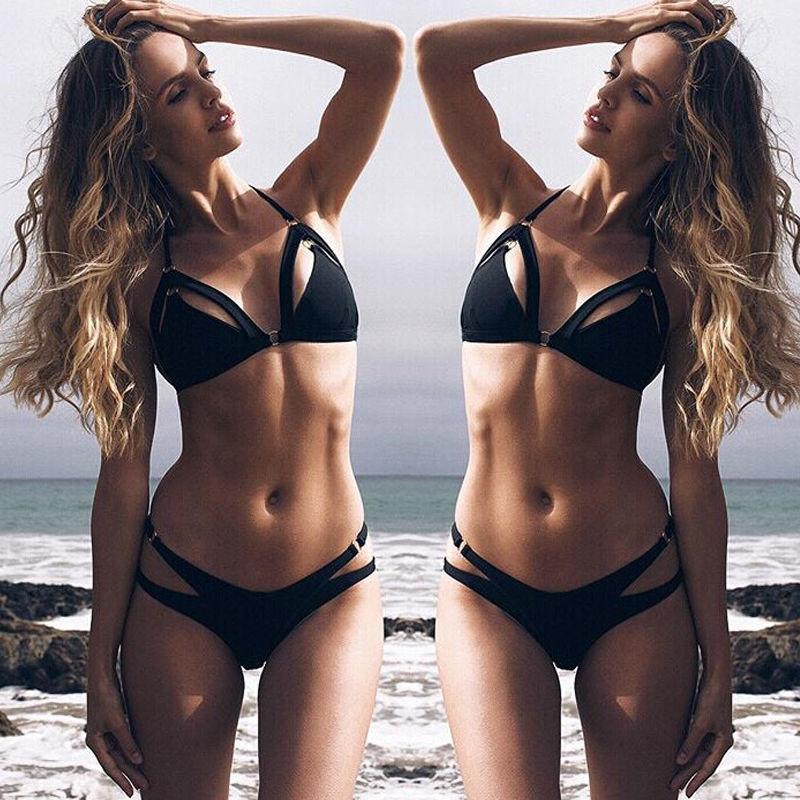 Black Friday Deals New Sexy Women Bandage Strap Bikini Set Push-up Bra Swimsuit Swimwear Thong e Bathing Suit
