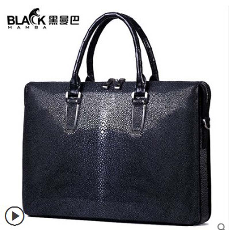 heimanba Pearl fish skin handbag mens business briefcase fashion 2018 new pure leather leather mens bag largeheimanba Pearl fish skin handbag mens business briefcase fashion 2018 new pure leather leather mens bag large