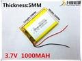 3.7 V, 1000 mAH, [503450] PLIB; polímero de iones de litio/batería Li-ion para GPS, mp3, mp4, mp5, reproductor de dvd, bluetooth, modelo de juguete