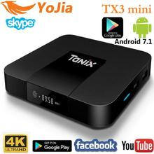 VONTAR Android 7.1 TV BOX TX3 Mini 2GB16GB Amlogic S905W Quad Core H.265 4K 2.4GHz WiFi Media Player IPTV Box TX3 mini 1GB 8GB