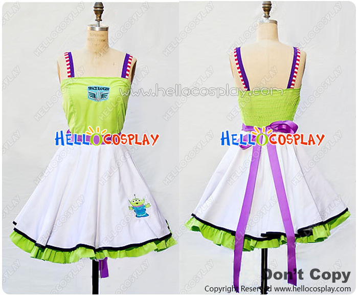 Toy Story Cosplay Buzz Lightyear Costume Retro Style Dress H008