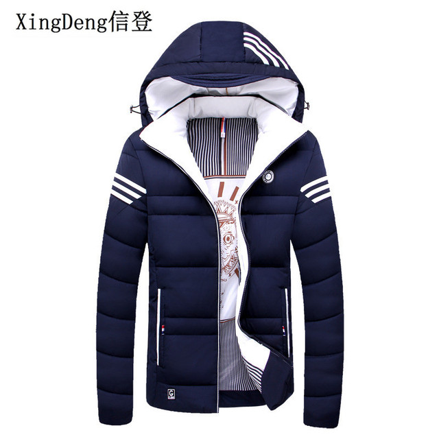 XingDeng Marca Casual Mens Casacos de Inverno Jaqueta masculina Jaquetas Grossas homens Quentes roupas da moda Parka Outerwear top Coat Plus 4XL