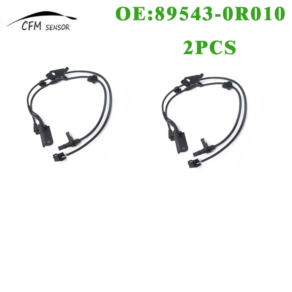 2PCS New ABS Wheel Speed Sensor 89543 0R010 Front Left For