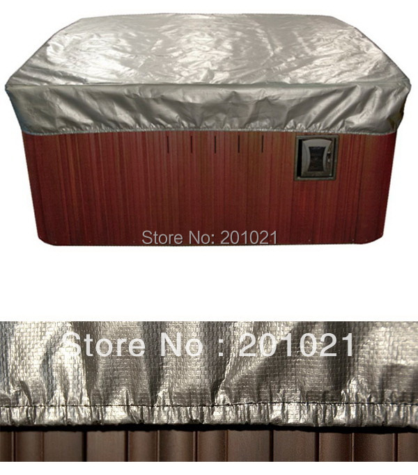 """hot tub smart Spa Cap Size:213cm x 213cm x 30 cm ( 7' ft. x 7' ft. x 12"""" in. ) Lowest price spa cover bag Jacket"""