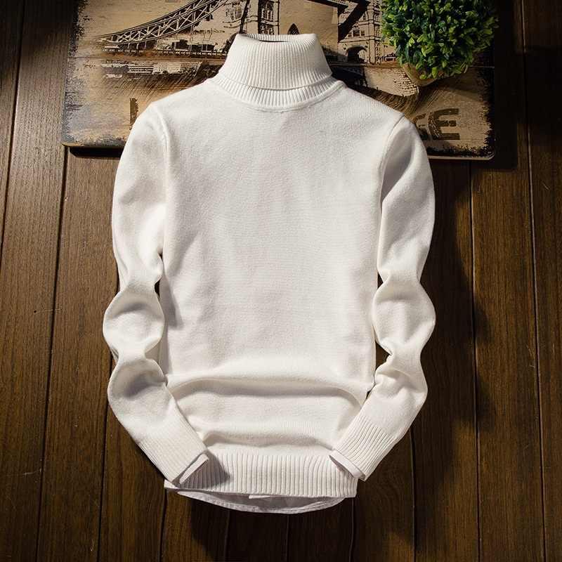 캐시미어 스웨터 남자 새 도착 남자의 크리스마스 스웨터 긴 소매 슬림 맞는 터틀넥 풀오버 남자