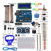 SunFounder LCD Ultrasonic Relay Sensor Electronic Bricks Starter Kit For Arduino UNO R3 Mega2560 Mega328 Nano