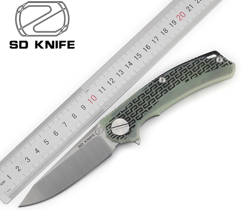 STEDEMON BG01 Flipper coltello pieghevole 12C27 lama KVT cuscinetto a sfere G10 maniglia di caccia di campeggio lame di Sopravvivenza all'aperto di strumenti EDC
