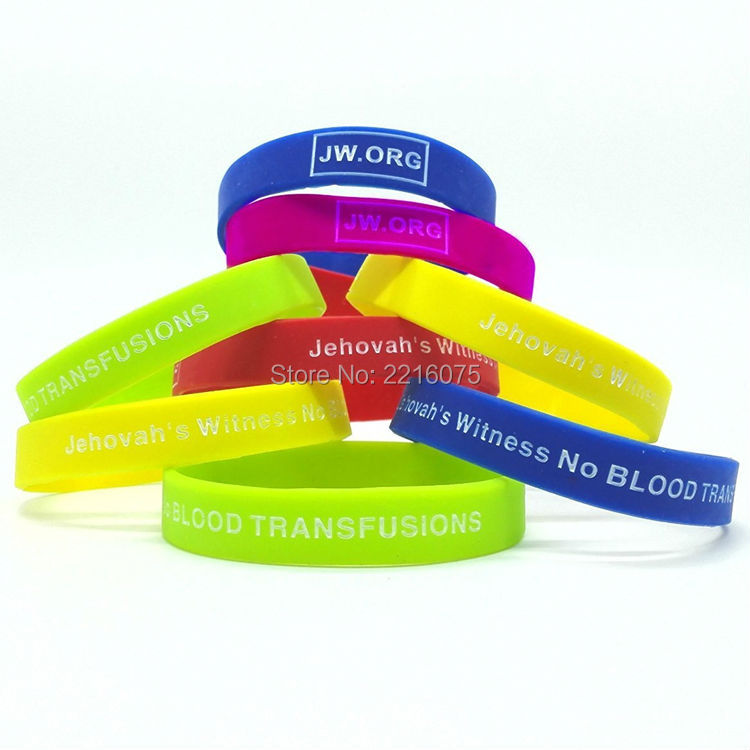 Medical Alert Silicone Wristband Rubber
