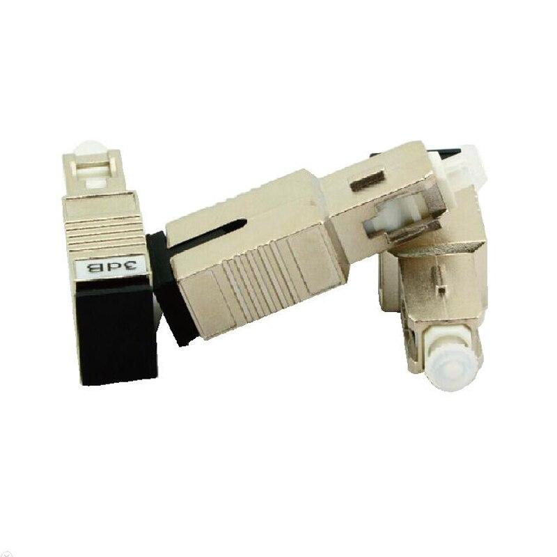 10PCS SC UPC 3bd Simplex mode fiber optic Attenuator SC 3dB metal male Fiber Attenuator FTTH attenuator Adapter Free shipping