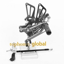 Hot CNC Racing Adjustable Rearset Footpegs Rear set For Honda CBR600 F4 F4i 1999-2007 Titanium Color 2000 2001 2002 03 04 05 06