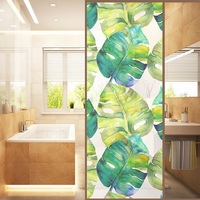 3D Scratchproof No glue Static Privacy glass sticker PVC galss film bathroom glass door window sticker 120cm*58cm glass films