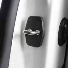 Estilo de coche cubierta de cerradura de puerta Anti-corrosivo 4 unids/set para Peugeot 308, 408, 508, 3008, 207 RCZ Citroen C4 Picasso C4L DS4 DS3 DS5 C5
