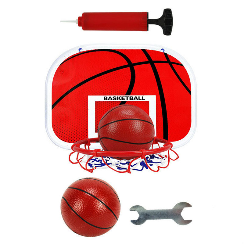 TOP!-Outdoor Indoor Sports Basketball Box Dunk Mini Basketball Hoop Set Baby Throw Basketball Hoop Children'S Ball Rack Toy Ch
