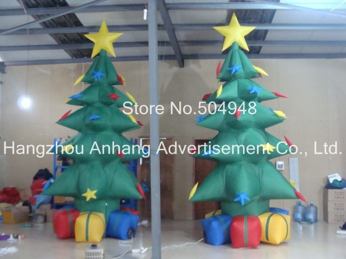 Inflatable Christmas Green Tree Decoration 2017 vioslite 2 1m inflatable christmas tree with bag in high quality for festival decoration