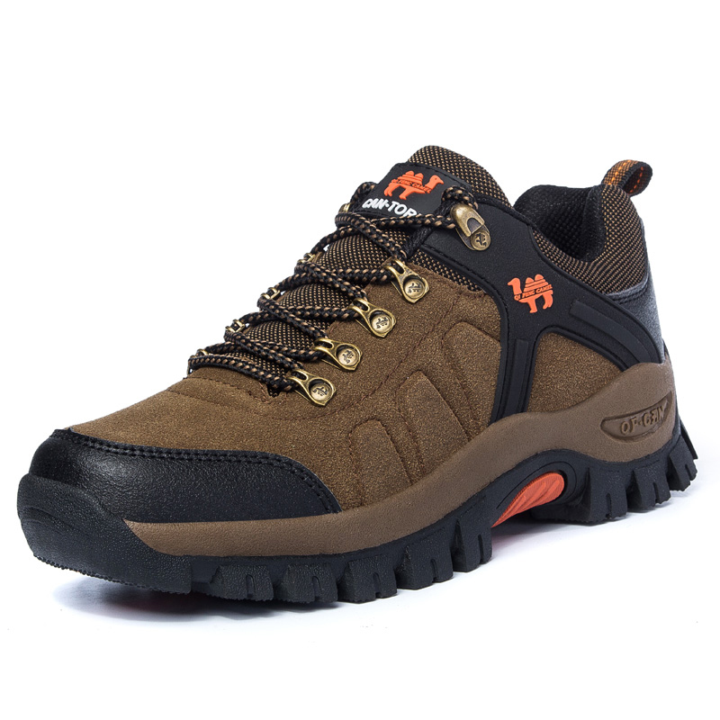 Lion Scream Climbing Fishing Shoes Waterproof Hiking Shoes Men Leather Shoes New Popular Outdoor Shoes Men Spring Large Size 47 in Hiking Shoes from Sports Entertainment