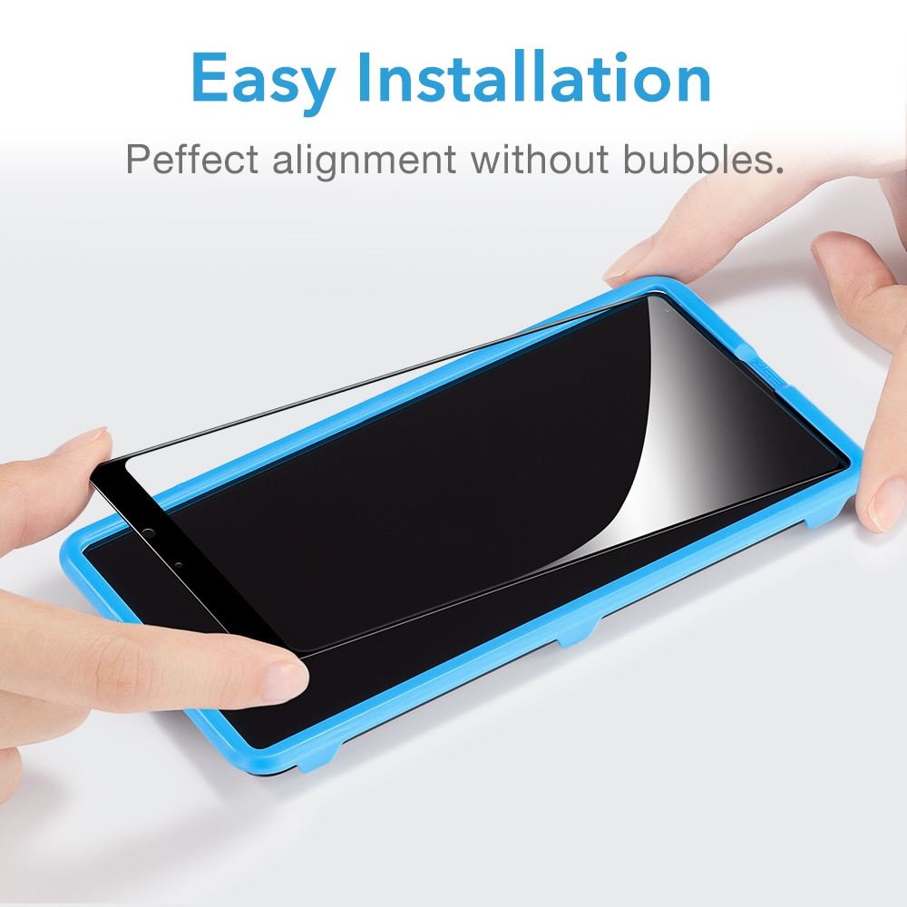 Image 2 - ESR Xiaomi MIX 2 2S Screen Protector for Xiaomi 8 8 SE Tempered Glass 3X Stronger 9H 3D Full Coverage Xiaomi MI 6 Protector Film-in Phone Screen Protectors from Cellphones & Telecommunications on AliExpress