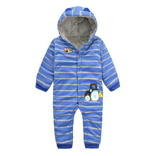 6004 Aosta Betty Baby Boy Romper Infant Pure Cotton Warm Jumpsuit Cute Cartoon Car Sticked Hooded Baby Outfit Baby Girl Snowsuit