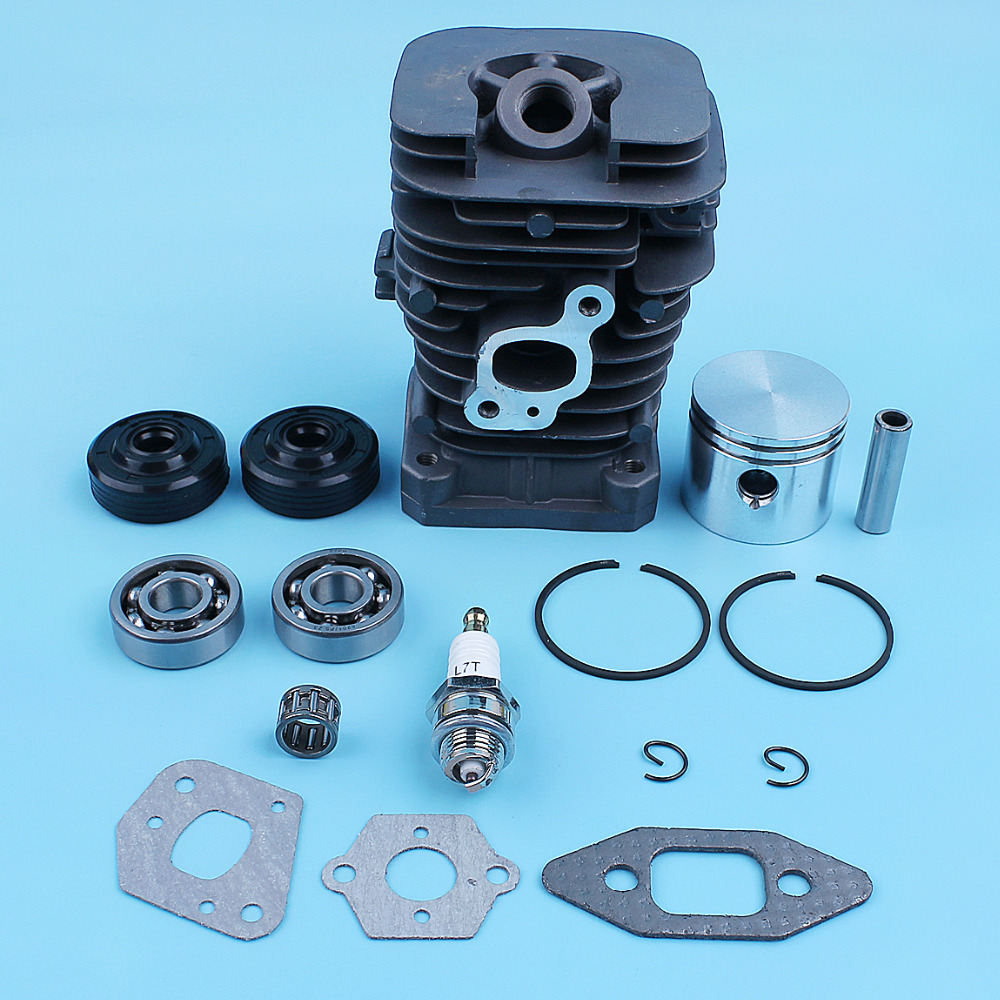 41.1mm Cylinder Piston Crankshaft Bearing Oil Seal Kit For Partner Formula 400 / 5000 350 351 352 370 371 390 401 420 Chainsaw