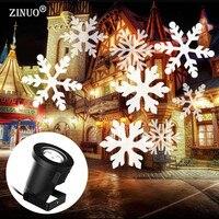 ZINUO Christmas Laser Snowflake Projector Outdoor LED Waterproof Disco Lights Home Garden Star Light Indoor Shower