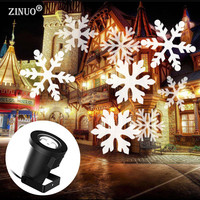 ZINUO Christmas Laser Snowflake Projector Outdoor LED Waterproof Disco Lights Home Garden Star Light Indoor Shower