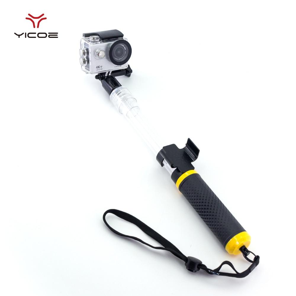 Waterproof Selfie Stick Monopod Tripod Remoter Holder For Underwater GoPro Session Go Pro hero 6 5 4 3 Xiomi Yi 4k Sport Camera sport camera yi camera sport xiaomi yi sport - title=
