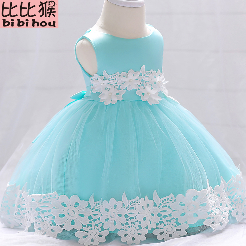 2018 NEW Baby Lace Flower Christening Gown Baptism Clothes Newborn Kids Girls Birthday Princess Infant Party Dresses Costume baby dress sequin lace flower christening gown baptism clothes newborn kids girls birthday princess infant party costume