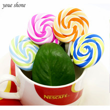 1PCS Cute Sweet Lollipop Pencil Eraser Rubber Color Creative Molding Student Gift Stationery Kawaii For Children YOUE SHONE