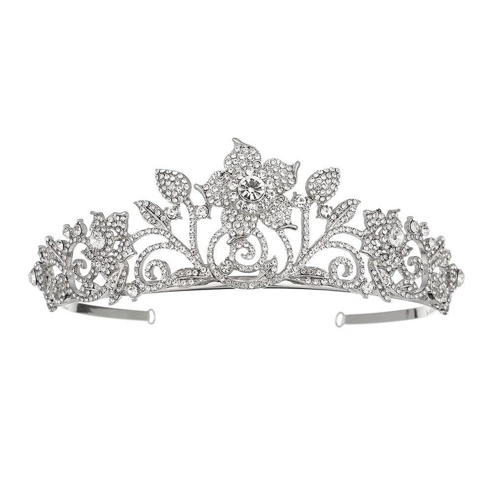 1 Pc Modello Della Rosa Di Cerimonia Nuziale Corona Di Strass Principessa Tiara Mezza Cerchio Da Sposa Monili Dei Capelli Accessori Per Capelli Per Spettacolo, Di Compleanno,