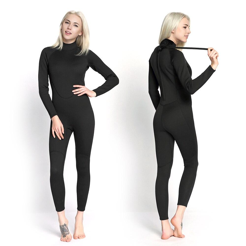 Women s Neoprene Wetsuit One Piece Full body 2mm Back Zip Scuba Dive Wetsuit Swimming Surfing
