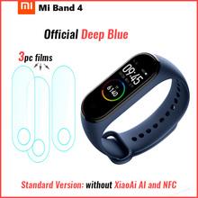 Oryginalny Xiao mi mi zespół 4 inteligentny Bluetooth 5 0 nadgarstek bransoletka fitness AMOLED kolorowy ekran dotykowy muzyka AI tętno tanie tanio XIAOMI Passometer Fitness tracker Uśpienia tracker Wiadomość przypomnienie Przypomnienie połączeń Pilot zdalnego sterowania