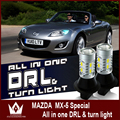 Night Lord For Mazda MX-5 LED turnlight 20smd DRL Daytime Running Lights& Front Turn Signals all in one