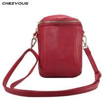 CHEZVOUS Universal Mobile Phone Bag Women Shoulder Bag for iphone 7 8 6 5s X PU Leather Pouch Cross body Small Bags 6.4 inch цена в Москве и Питере
