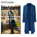 Fantastic Beasts and Where to Find Them Newt Scamander Blue Trench Cosplay Costume Long Wool Coat Men's Winter Overcoat