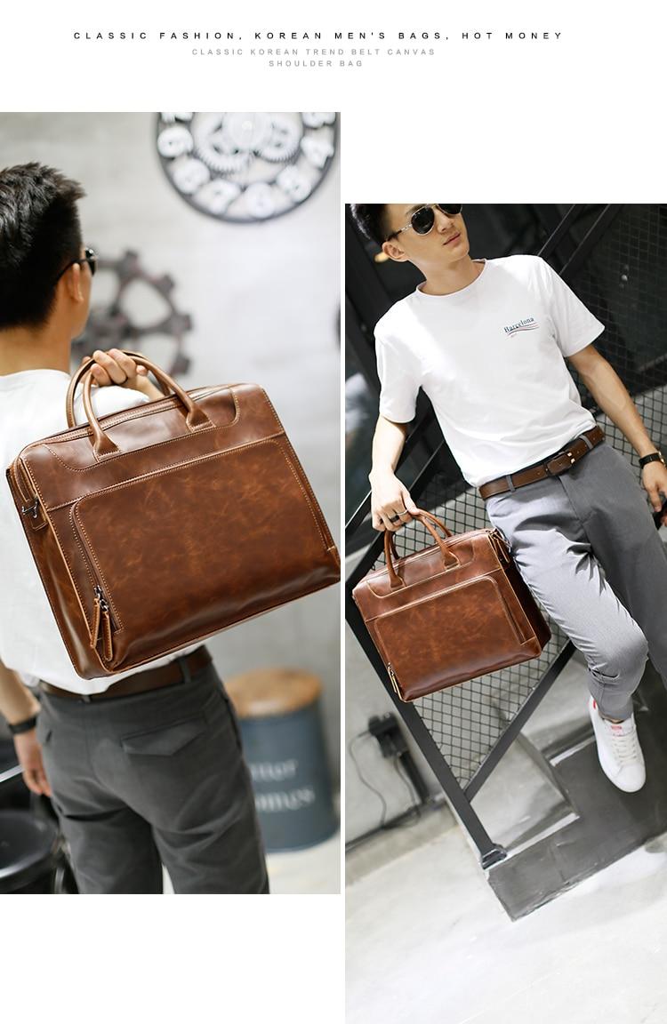 HTB1z4zAXW285uJjSZFkq6zHopXaJ Brand Men's Briefcase Handbag Crazy Horse Pu Leather Messenger Travel Bag Business Men Tote Bags Man Casual Crossbody Briefcases