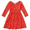 Baby Girls Autumn Winter Dress Kids 100 Cotton Long Sleeve Red Heart Shape Dresses Children Clothing