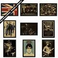 Oasis рок-музыка vintage retro poster ретро ностальгия крафт-бумага декоративная роспись стены стикеры