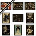 Oasis de la música rock poster retro vintage retro papel kraft nostalgia pintura decorativa pegatinas de pared
