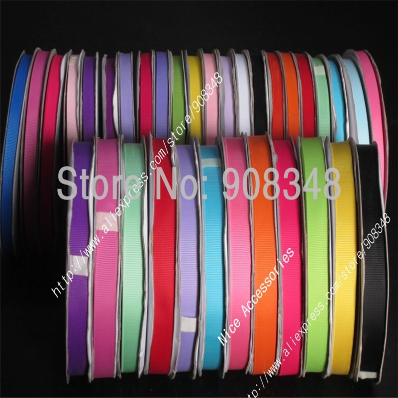 236 colors 3 8 9mm polyester plain solid color grosgrain ribbon for gift hair ribbons bows